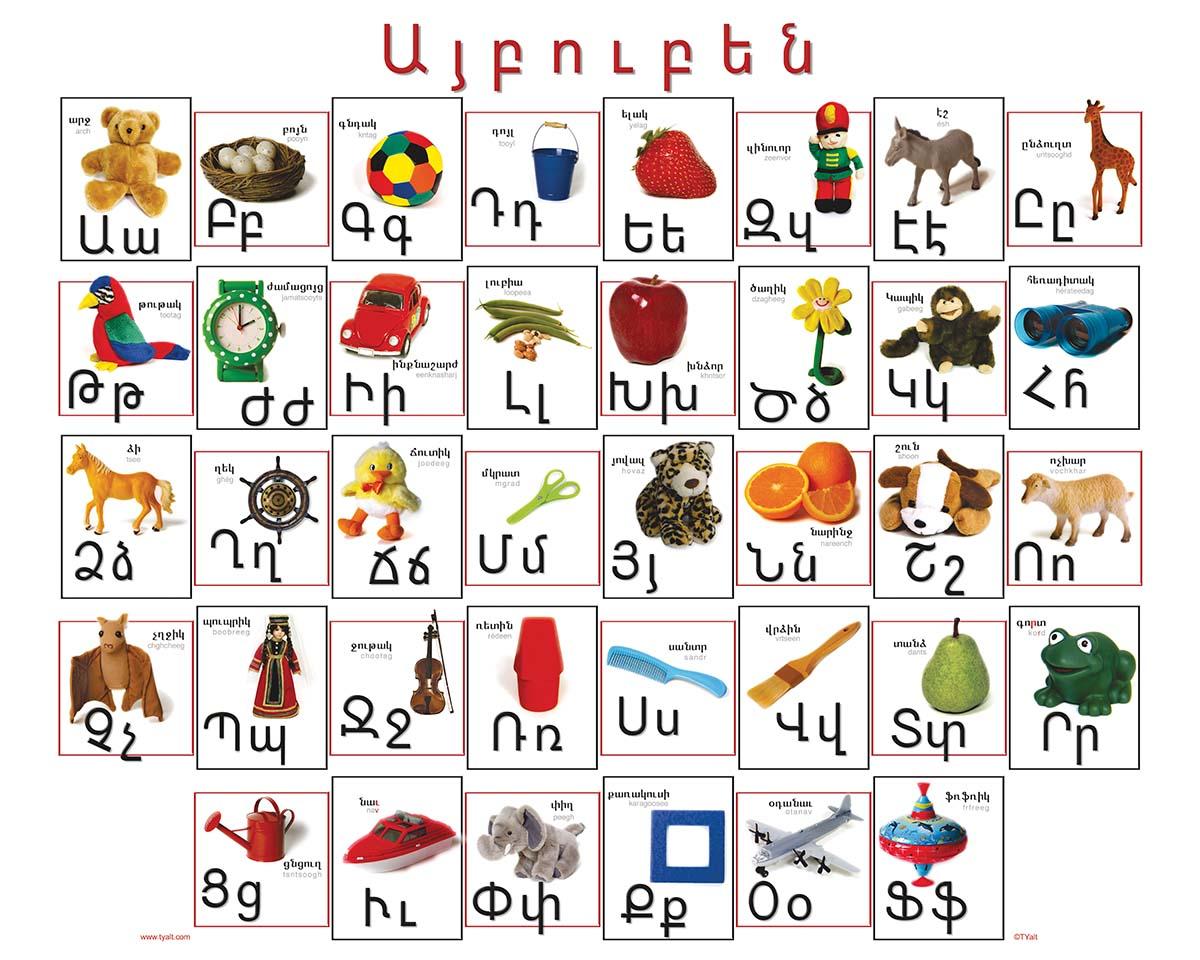 armenian alphabet poster